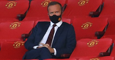 Ed Woodward sits in stands at Manchester United. TEAMtalk