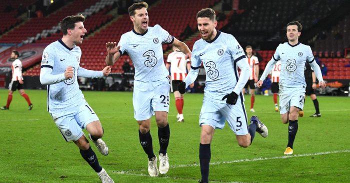 Mason Mount, Jorginho Sheff Utd v Chelsea January 2021
