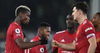 Paul Pogba, Harry Maguire Fulham v Man Utd January 2021