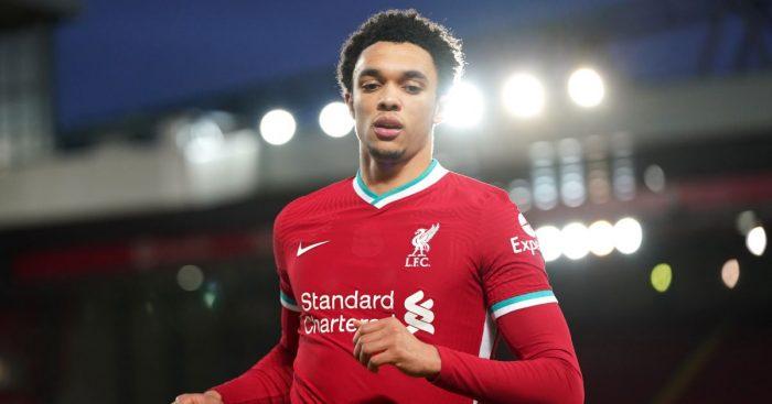 Trent Alexander-Arnold Liverpool v Man City February 2021