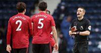 Victor Lindelof, Harry Maguire West Brom v Man Utd February 2021
