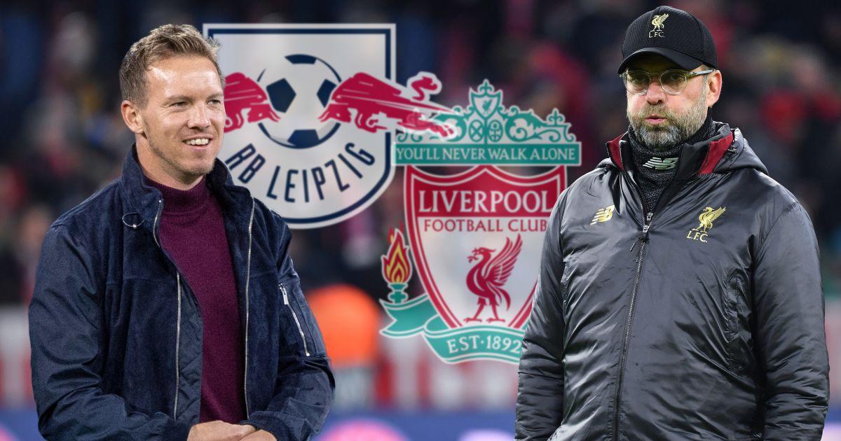 Julian Nagelsmann, Jurgen Klopp RB Leipzig v Liverpool
