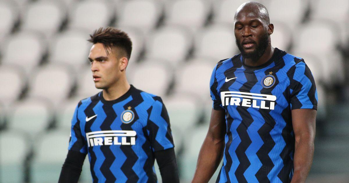 Lautaro Mrtinez and Romelu Lukaku of Inter Milan