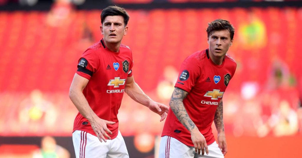 Harry Maguire, Victor Lindel del equipo del Manchester United