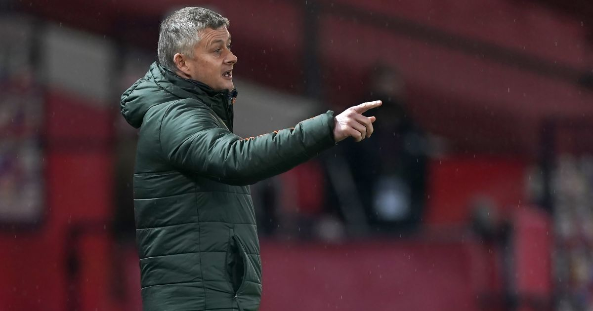 Ole Gunnar Solskjaer Man Utd v Sheff Utd January 2021