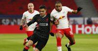 Ozan Kabak, Christopher Nkunku RB Leipzig v Liverpool February 2021