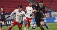 Hwang Hee-Chan, Ozan Kabak RB Leipzig v Liverpool February 2021