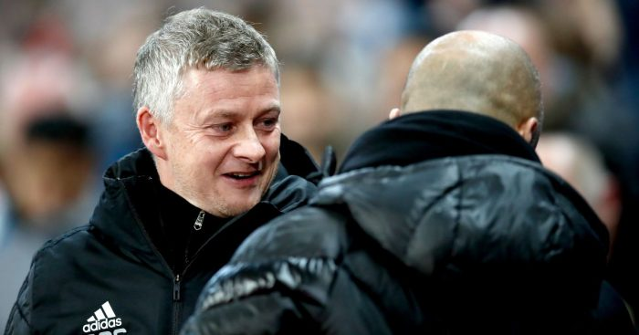 Ole Gunnar Solskjaer, Pep Guardiola Man City v Man Utd December 2019