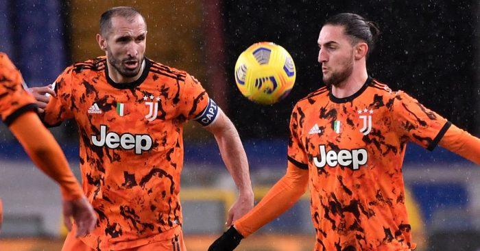 Giorgio Chiellini, Adrien Rabiot Juventus