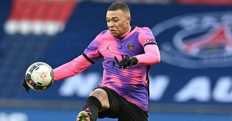 Kylian Mbappe PSG v Nice February 2021