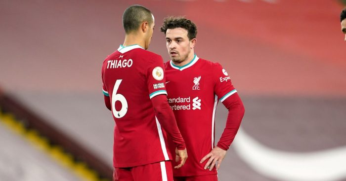 Thiago Alcantara, Xherdan Shaqiri Liverpool TEAMtalk
