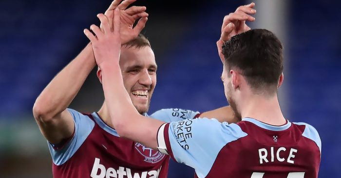 Tomas Soucek, Declan Rice West Ham