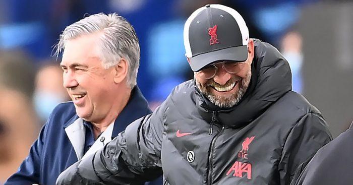 Carlo Ancelotti, Jurgen Klopp Goodison Park Merseyside derby
