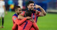 Hakim Ziyech, Olivier Giroud, Ngolo Kante Chelsea TEAMtalk