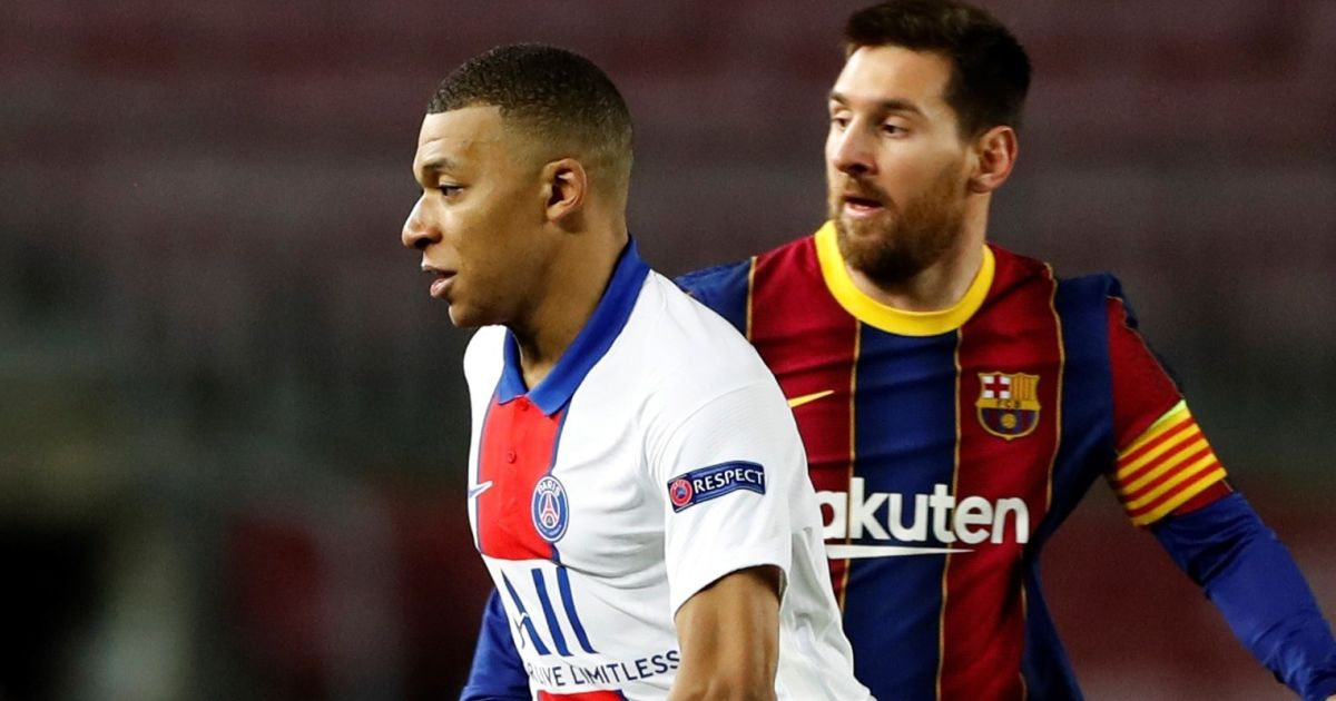 Kylian Mbappe Messi TEAMtalk