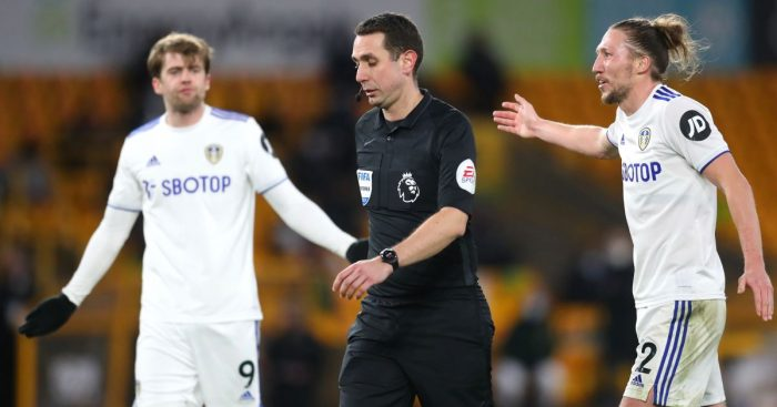 Patrick Bamford Leeds VAR denial at Wolves
