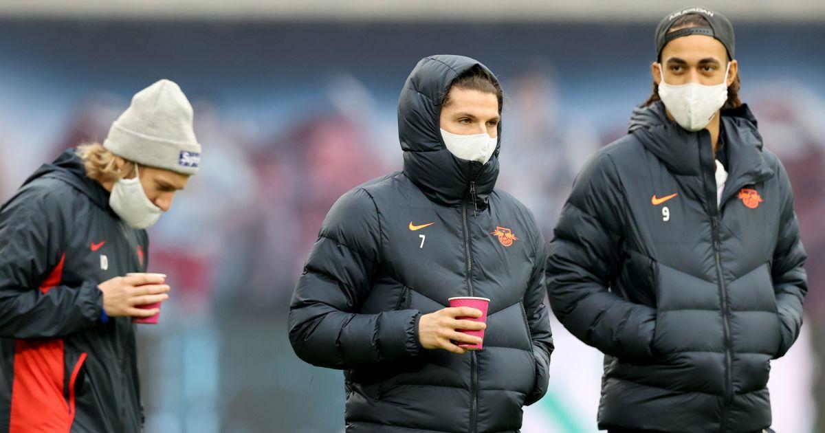 Emil Forsberg, Marcel Sabitzer, Yussuf Poulsen RB Leipzig
