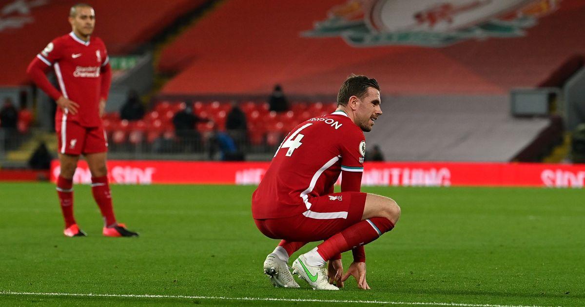 Jordan Henderson Liverpool v Everton February 2021