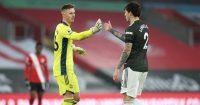 Dean Henderson, Victor Lindelof Southampton v Man Utd November 2020