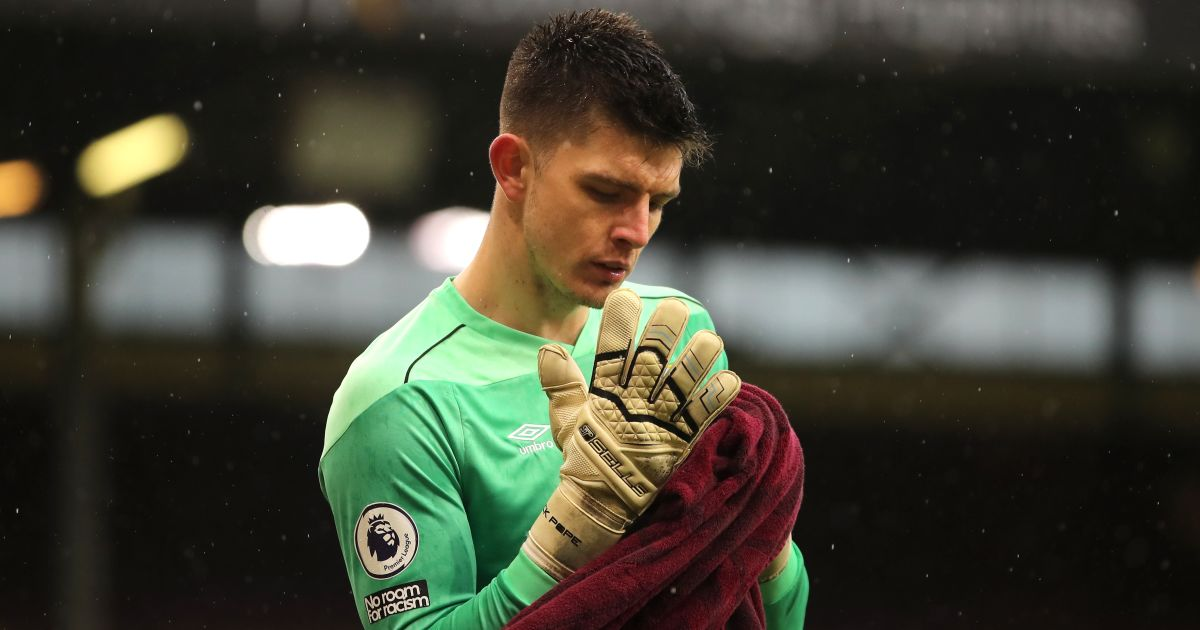 Nick Pope Burnley v Brighton February 2021