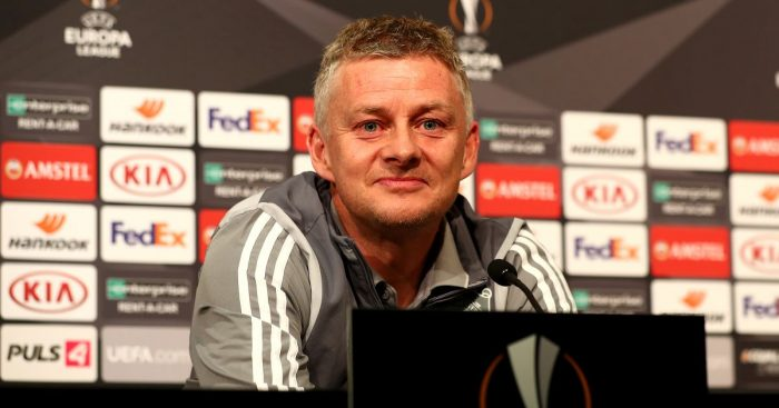 Ole Gunnar Solskjaer Man Utd Europa League press conference