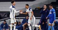 Dele Alli, Carlos Vinicius Tottenham v Wolfsberger February 2021