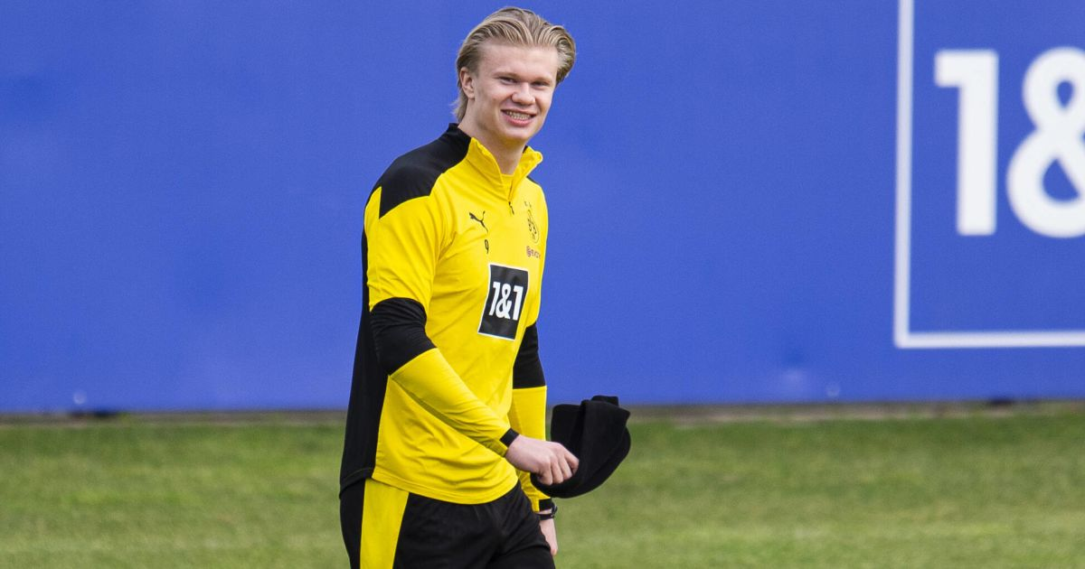 Erling Haaland Borussia Dortmund training