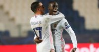 Lucas Vazquez, Ferland Mendy Atalanta v Real Madrid February 2021