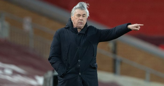 Carlo Ancelotti Liverpool v Everton February 2021