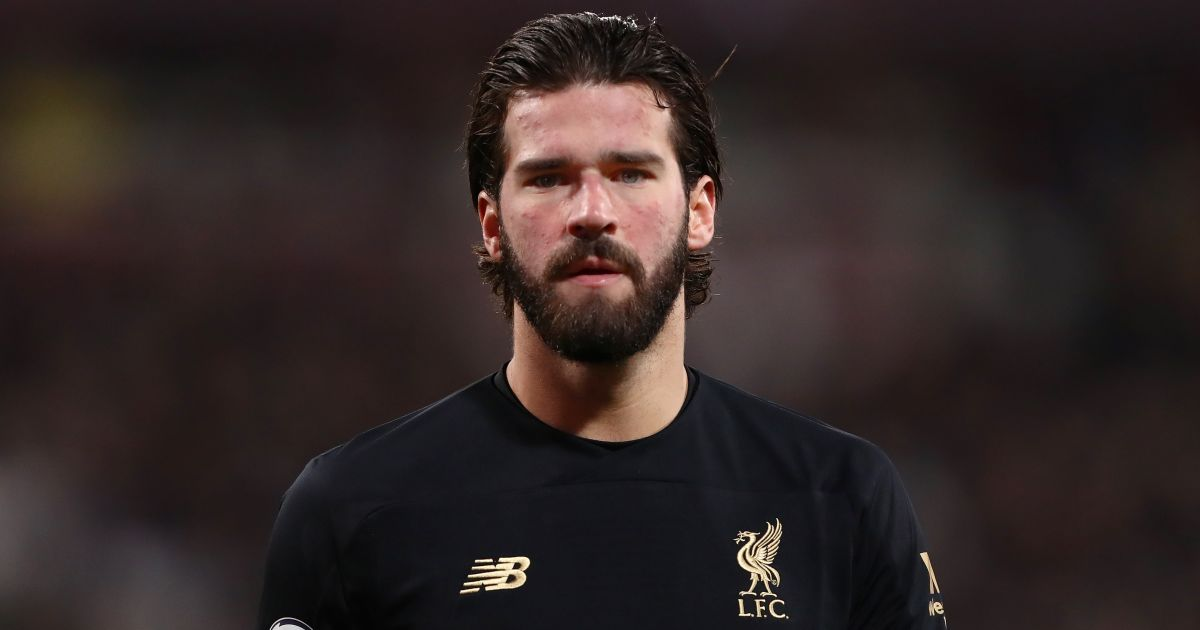 Alisson Becker West Ham v Liverpool January 2020