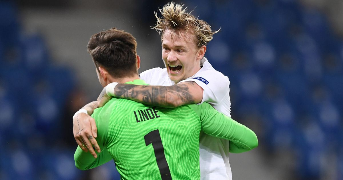 Birk Risa, Andreas Linde Hoffenheim v Molde February 2021