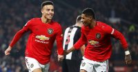 Mason Greenwood, Marcus Rashford Man Utd v Newcastle December 2019