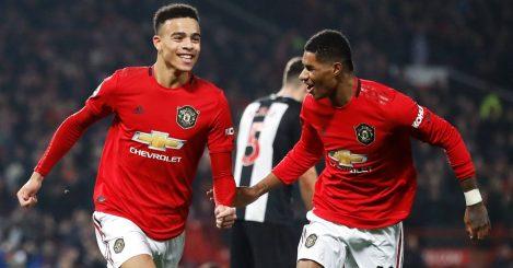 Mason Greenwood, Marcus Rashford Man Utd v Newcastle December 2019