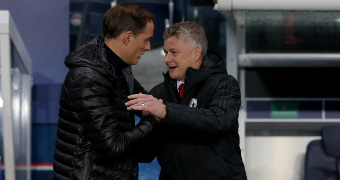 Thomas Tuchel, Ole Gunnar Solskjaer PSG v Man Utd, March 2021