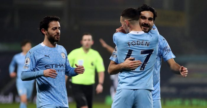 Bernardo Silva, Phil Foden, Ilkay Gundogan Man City TEAMtalk