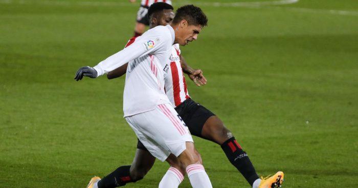 Raphael Varane Real Madrid v Athletic Bilbao December 2020