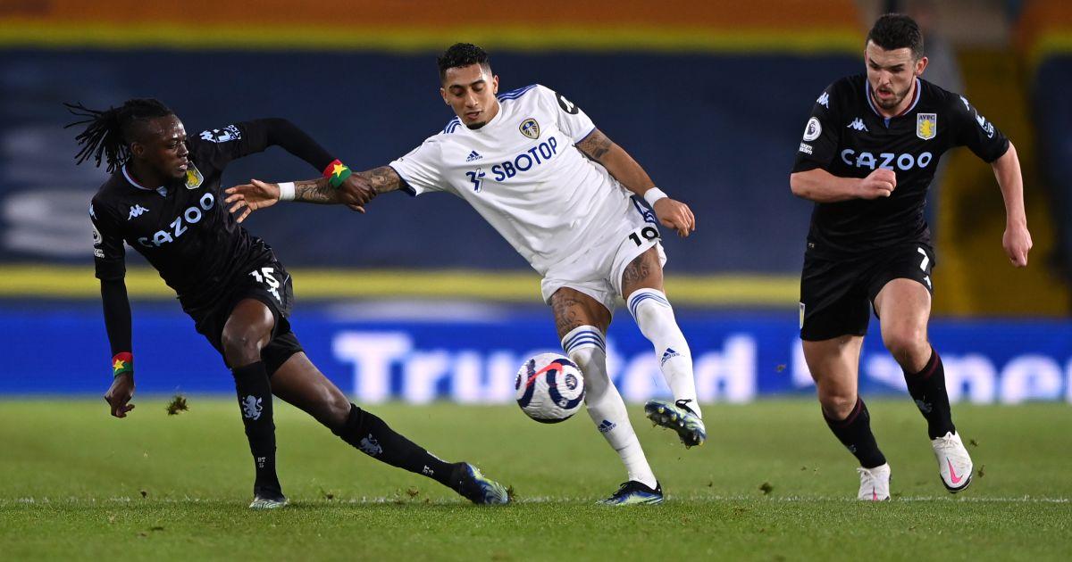 Raphinha, Bertrand Traore Leeds v Aston Villa February 2021