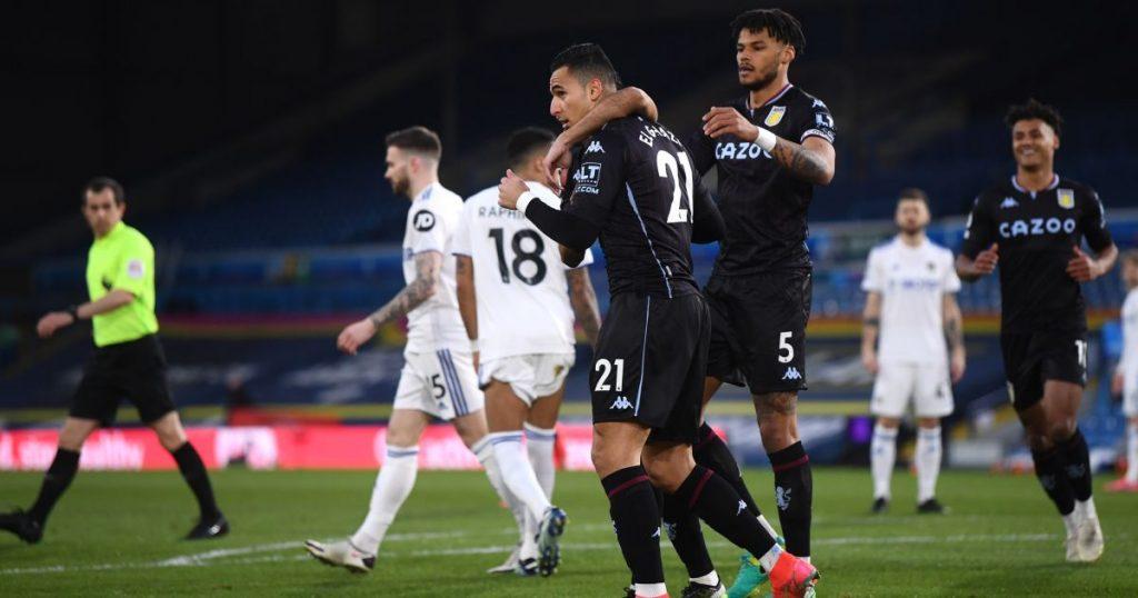 Anwar El Ghazi Leeds v Aston Villa February 2021