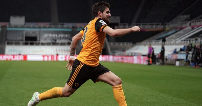 Ruben Neves Newcastle v Wolves February 2021