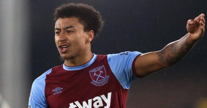 Jesse Lingard, on loan at West Ham