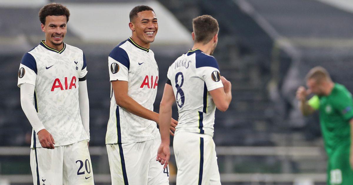 Dele Alli, Carlos Vinicius, Harry Winks Tottenham v Ludogorets November 2020