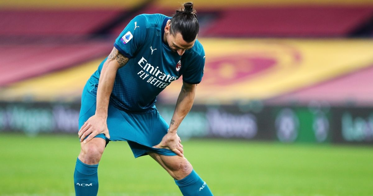 Zlatan Ibrahimovic Roma v AC Milan February 2021