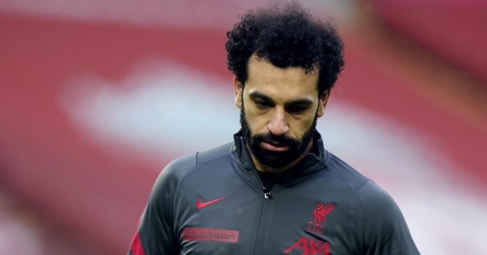 Mohamed Salah Liverpool warm up