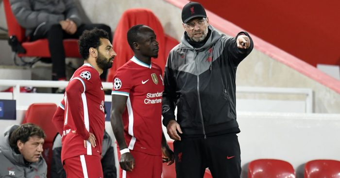 Mohamed Salah, Sadio Mane Liverpool October 2020