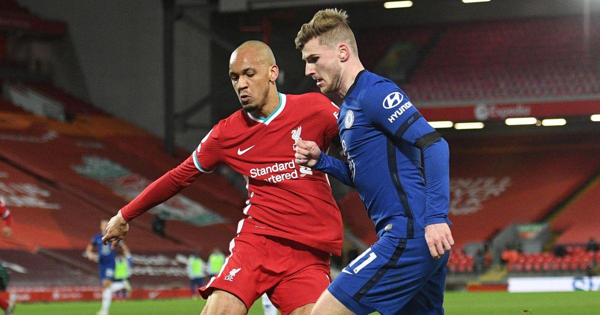 Fabinho, Timo Werner Liverpool v Chelsea March 2021