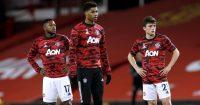 Fred, Marcus Rashford, Daniel James Man Utd v Newcastle February 2021