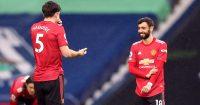 Harry Maguire, Bruno Fernandes West Brom v Man Utd February 2021