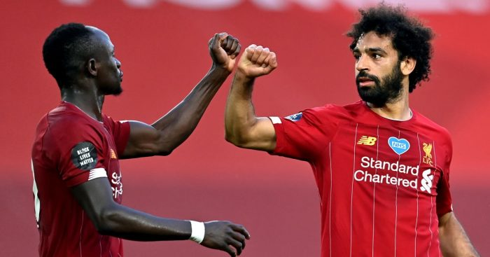 Sadio Mane, Mohamed Salah Liverpool attackers