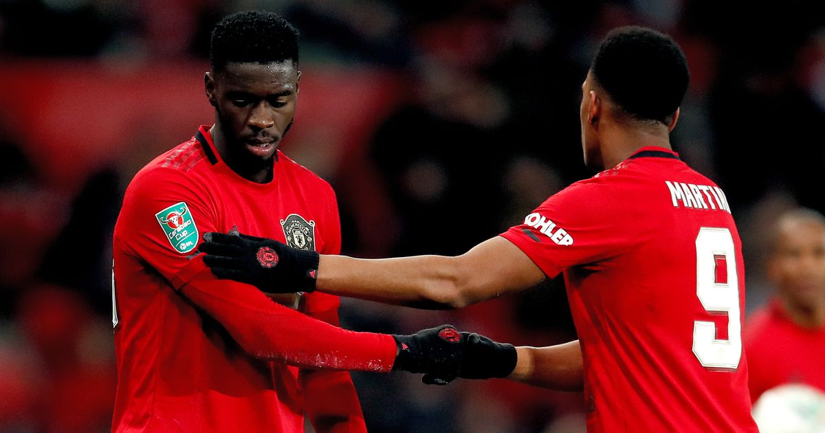 Axel Tuanzebe, Anthony Martial Manchester United