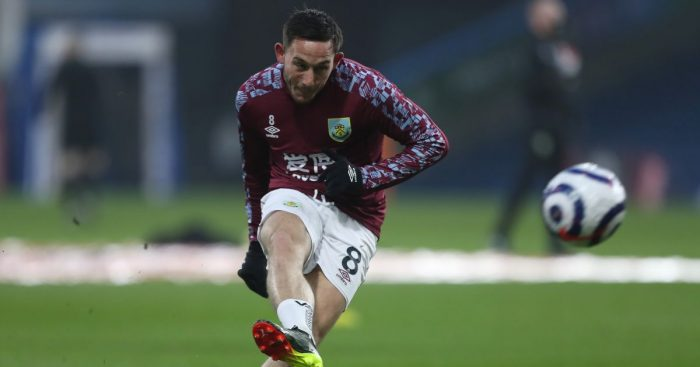 Josh Brownhill Burnley v Leicester March 2021